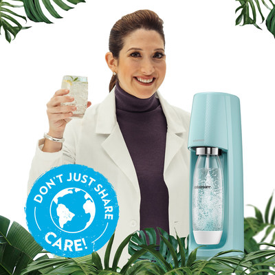"""Este Día de la Tierra, SodaStream se une a Randi Zuckerberg para anunciar sus objetivos de sostenibilidad más recientes a través de la campaña medioambiental """"Don't Just Share, Care""""."""