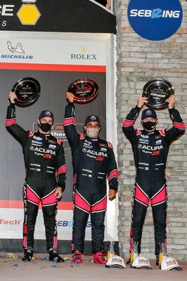 Driving their Acura ARX-05 prototype, the Meyer Shank Racing trio of Dane Cameron, Filipe Albuquerque and Juan Pablo Montoya finished third in this weekend's Mobil 1 Twelve Hours of Sebring sport car race.
