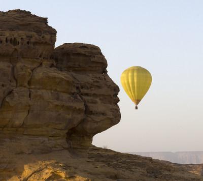 Hot air balloon entertainment activity in AlUla