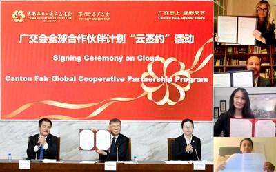 La Feria de Cantón organiza eventos de firma en línea, un programa de colaboración global en crecimiento (PRNewsfoto/Canton Fair)