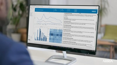 With Arria for Tableau 3.0, dashboard users — both those who have and do not have data analysis skills — have access to visuals supported by explanations in natural language. Viewers no longer have to try to figure out the story the graphs, charts, and tables are meant to communicate; the data story is told in words that everyone can understand.