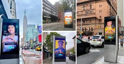 La campaña de concientización Vaccinate4Love se presenta en los kioscos LinkNYC en la ciudad de Nueva York (PRNewsfoto/Vaccinate4Love)