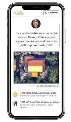 Los instaladores solares ahora pueden ofrecer cotizaciones de energía solar instantáneas y personalizadas en inglés y español mediante la plataforma de marketing y comercio electrónico Stella de Demand IQ. (PRNewsfoto/Demand IQ)