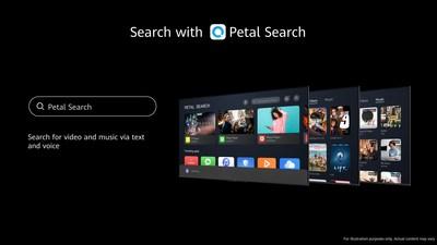 Petal Search en HUAWEI Vision (PRNewsfoto/Huawei)