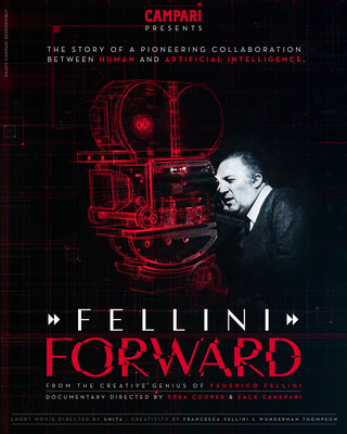 Campari announces Red Diaries 2021: Fellini Forward; a project set to explore the creative genius of Federico Fellini using Artificial Intelligence with an accompanying documentary telling the story of the pioneering project, launching at Venice Film Festival on 7th September 2021.